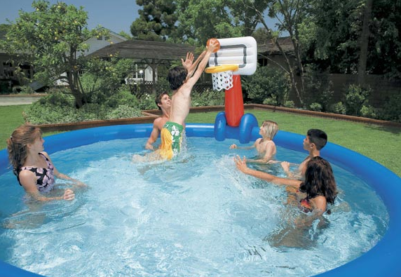 Rete volleyball e basketball con palla per piscine intex easy - Poltrone gonfiabili per piscina ...