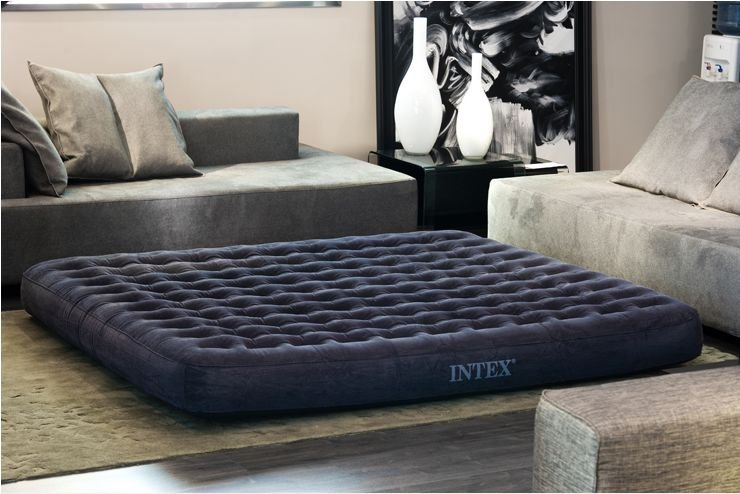 Intex 68926 full downy airbed inflatable air mattress full for Letti gonfiabili
