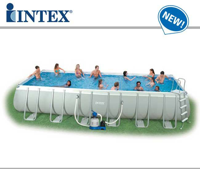 Intex ultra frame swimming pool item 28372 intex 32ft x for Piscine intex